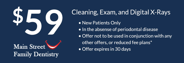 $59 exam and cleaning
